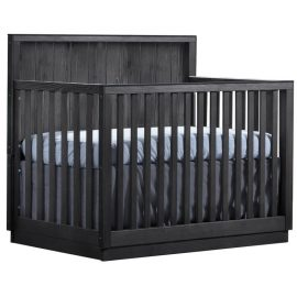 Valencia wooden Convertible Crib in Black Chalet
