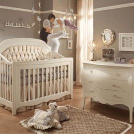 Allegra Collection - Baby Room (diamond tufted panel in platinum)