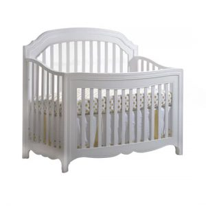 Allegra Gold White Convertible Crib