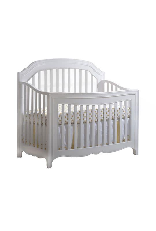 Allegra Gold White Convertible Crib
