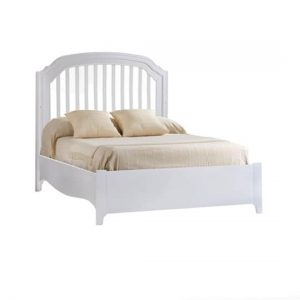 "Allegra Gold White Double Bed 54"" (low profile footboard)"