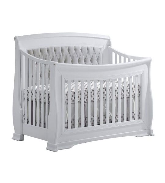 "Bella ""5-in-1"" Convertible Crib with Upholstered Headboard Panel"