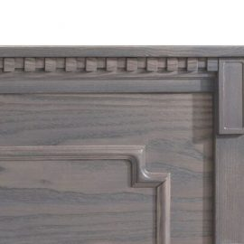 Close Up View of Dentil Molding Accent (wooden crib)