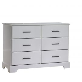 Taylor Double Dresser in White with black handles