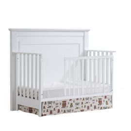 """Taylor """"5-in-1"""" Convertible Crib with Toddler Gate in White"""