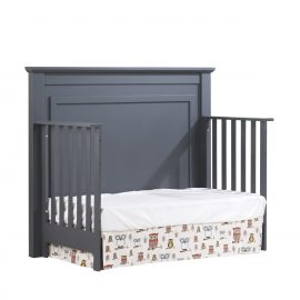 "Taylor ""5-in-1"" Convertible Crib as daybed in Graphite"