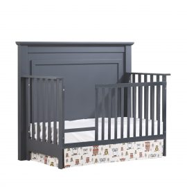 """Taylor """"5-in-1"""" Convertible Crib with Toddler Gate in Graphite"""