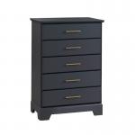 Tayler 5 Drawer Dresser in Charcoal