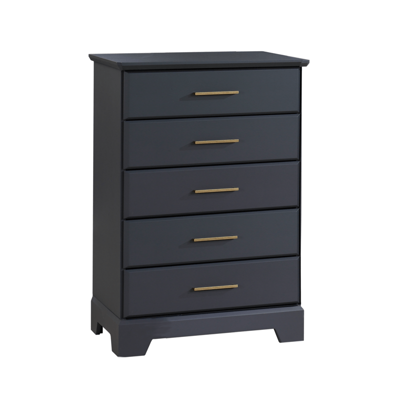 Tayler 5 Drawer Dresser in Charcoal