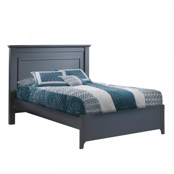 """Tayler Double Bed 54"""" in Charcoal"""