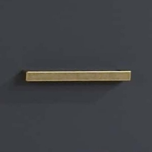 Antique brass gold handles on graphite background