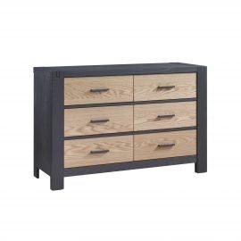 Rustico Moderno Double Dresser in Graphite and Natural Oak