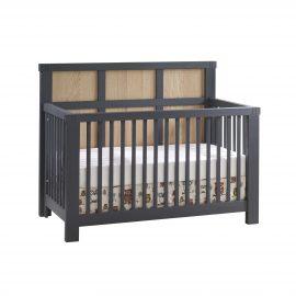 """Rustico Moderno """"5-in-1"""" Convertible Crib in Graphite and Natural Oak"""