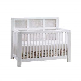 "Rustico Moderno ""5-in-1"" Convertible Crib in White and White Bark"