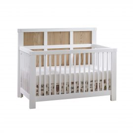 "Rustico Moderno ""5-in-1"" Convertible Crib in White and Natural Oak"