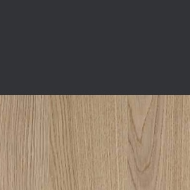 graphite and natural oak wood swatch