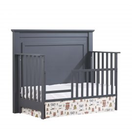 "Taylor ""5-in-1"" Convertible Crib with Toddler Gate in Graphite"