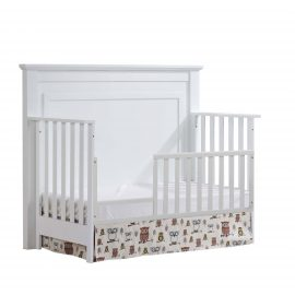 "Taylor ""5-in-1"" Convertible Crib with Toddler Gate in White"