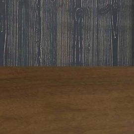Half cognac wood half black chalet square swatch