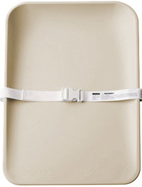 Cappucino color matty changing mat with safety belt
