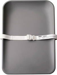 Grey color matty changing mat with safety belt
