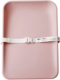 Pink color matty changing mat with safety belt