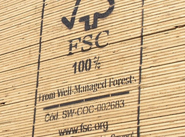 FSC certified wooden planks