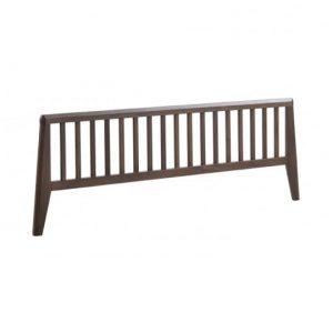 Dark wood bed footboard
