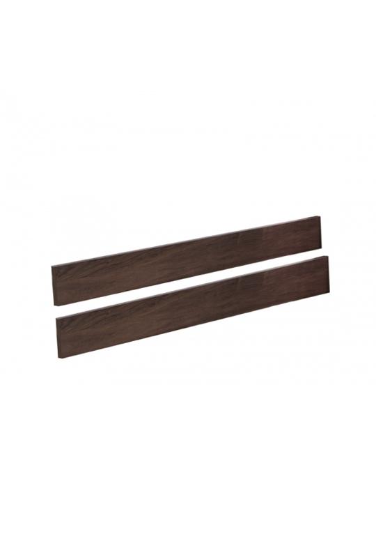 Dark wood crib to bed conversion rails