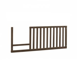 Dark wood toddler gate