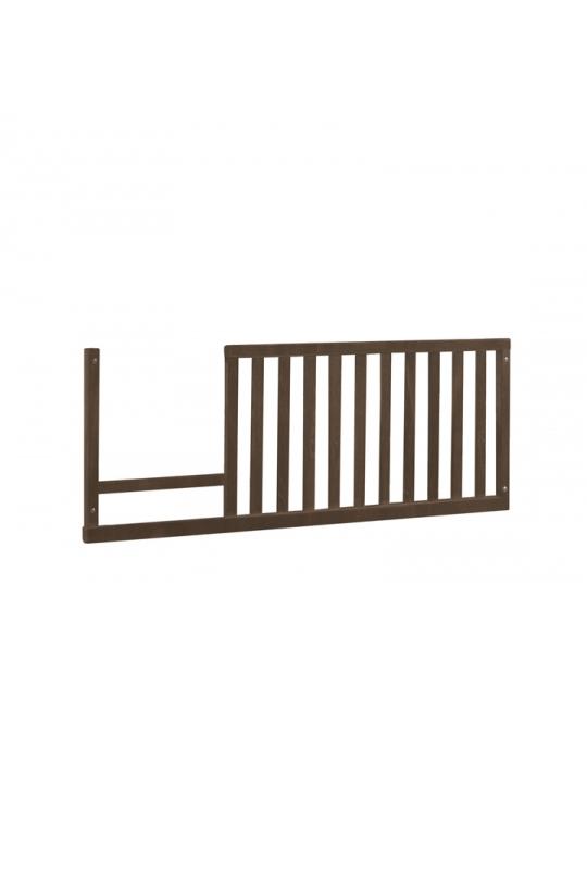 Dark wood toddler gate