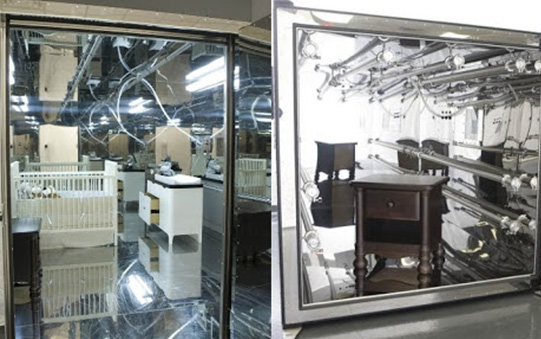 baby nursery furniture in warehouse testing chambers