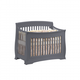 "Bella ""5-in-1"" Convertible Crib in Charcoal"