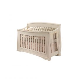 "Bella ""5-in-1"" Convertible Crib in Linen with Platinum Headboard Panel"