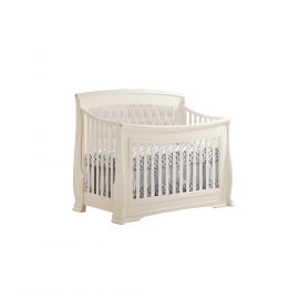 "Bella ""5-in-1"" Convertible Crib in Linen with Talc Headboard Panel"