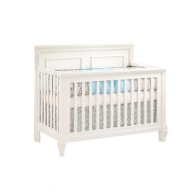 "Belmont ""5-in-1"" Convertible Crib in White"