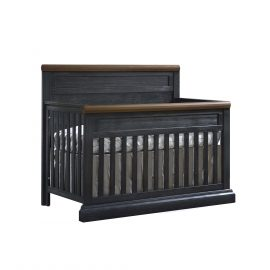 "Cortina ""5-in-1"" Convertible Crib in Black Chalet and Cognac"