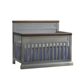 "Cortina ""5-in-1"" Convertible Crib in Grey Chalet and Cognac"