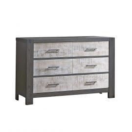 Rustico Moderno Double Dresser in Grigio and White bark