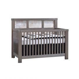 """Rustico Moderno """"5-in-1"""" Convertible Crib in Grigio and White Bark"""