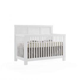 """Rustico """"5-in-1"""" Convertible Crib in White"""