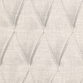 diamond tufted upholstery close-up in Talc linen weave